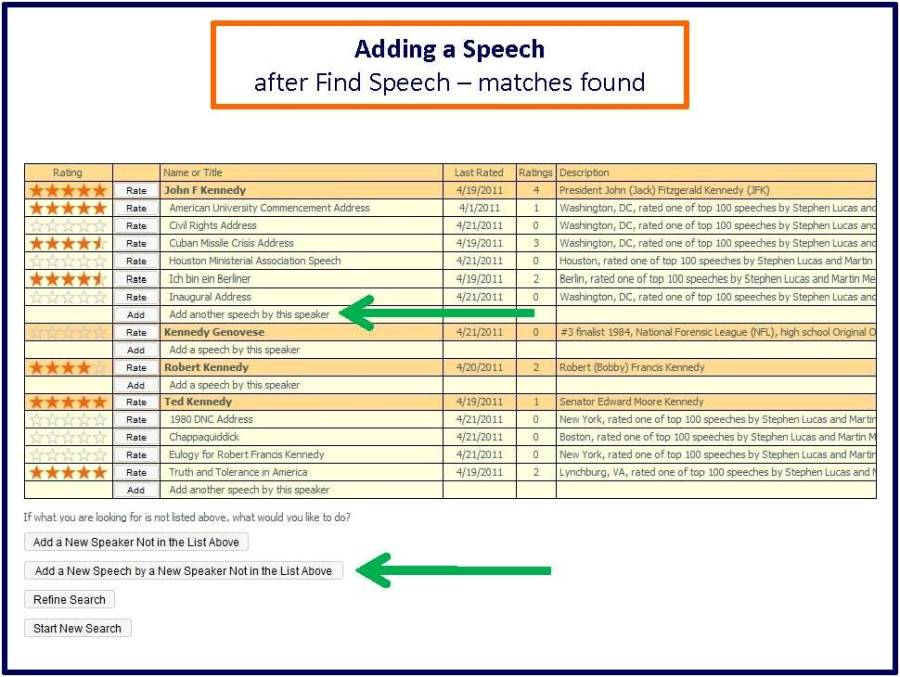 Adding speech after find speech matches found