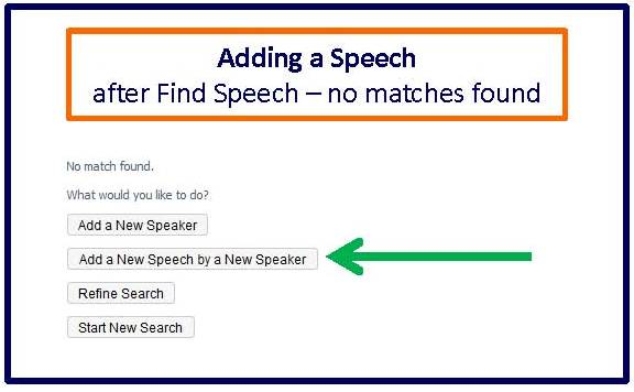 Adding speech after find speech no matches found
